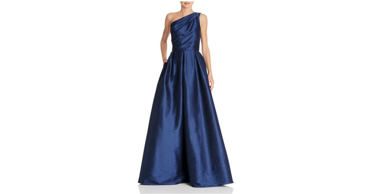 Lyst - Carmen Marc Valvo Infusion One Shoulder Gown in Blue