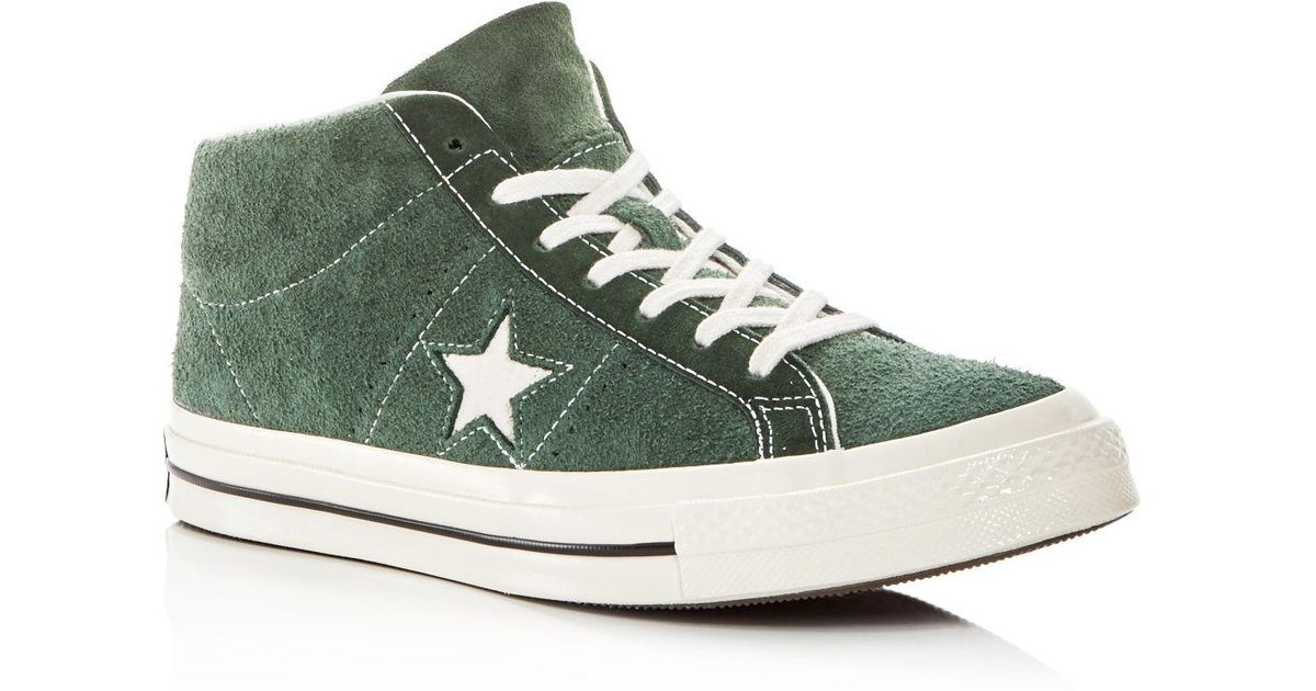 Star Suede Mid Top Sneakers