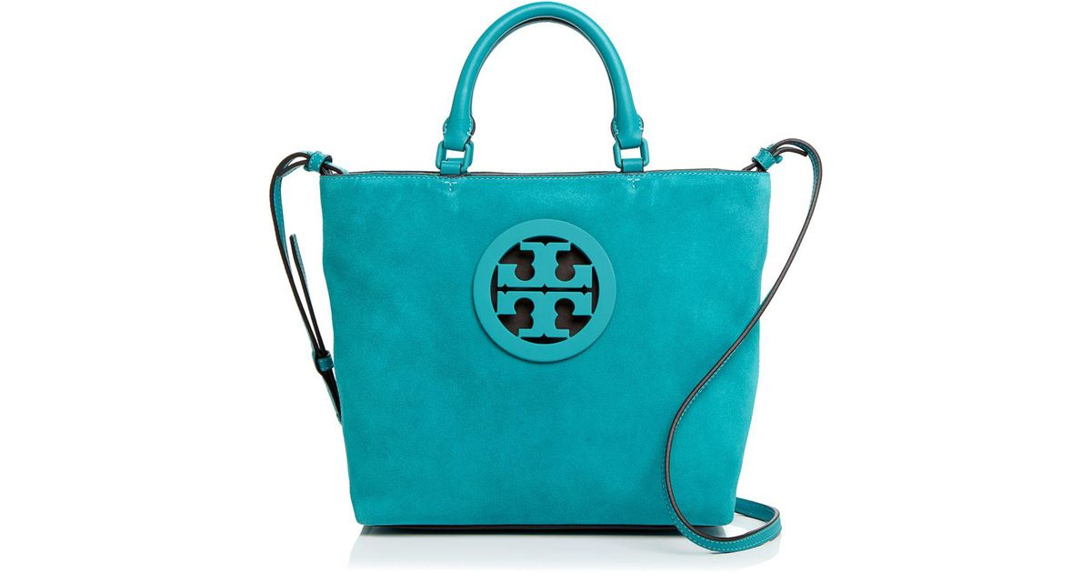 d60e026517f Lyst - Tory Burch Charlie Small Suede Tote