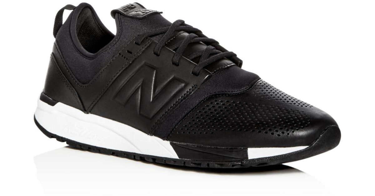 aff1529b7152e New Balance Men's 247 Leather & Neoprene Lace Up Sneakers in Black for Men  - Lyst