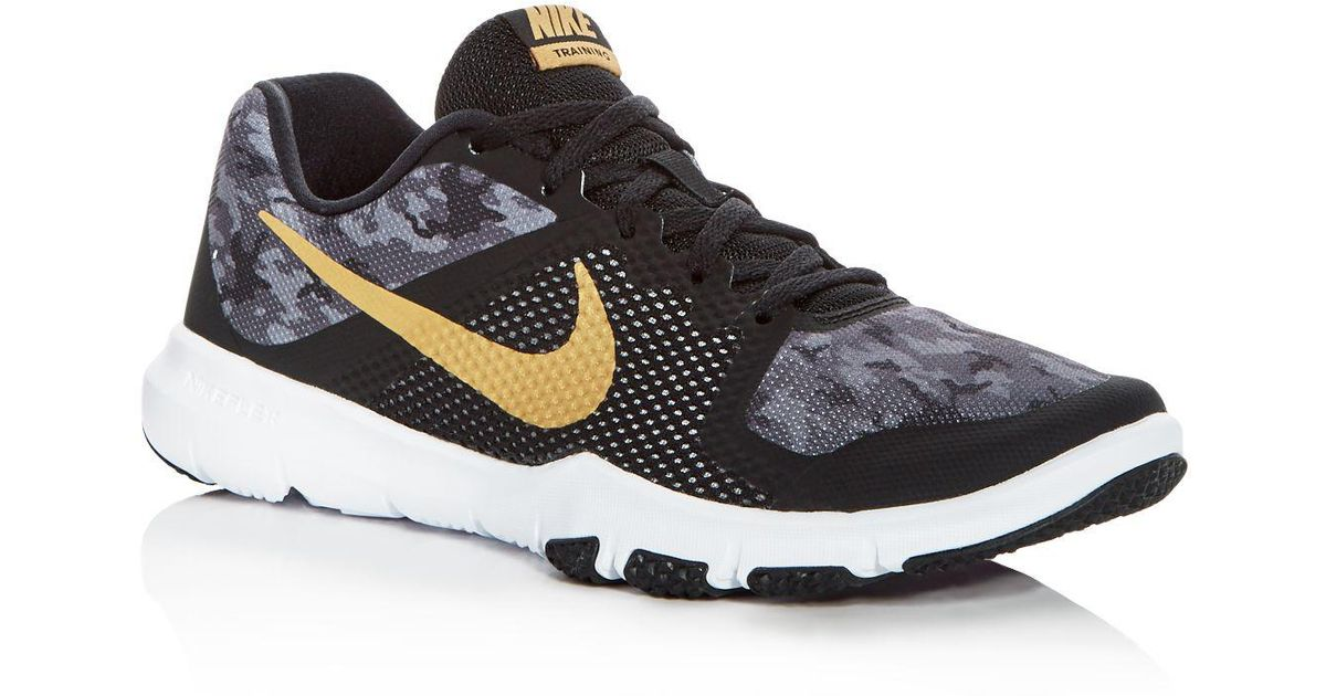 low priced d6f13 23b81 Nike Men s Flex Control Camo Lace Up Sneakers in Black for Men - Lyst