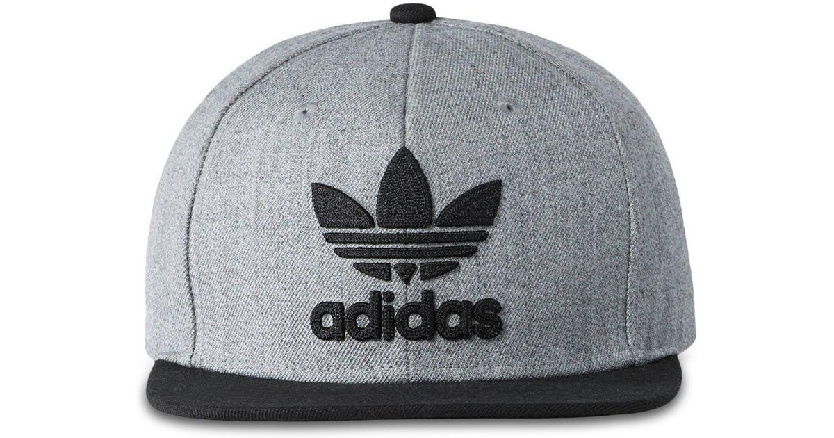bd71aa09 adidas Originals Trefoil Chain Snapback Cap in Gray for Men - Lyst