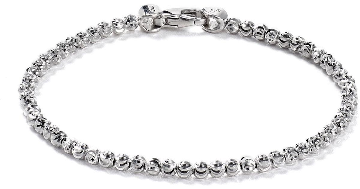Officina Bernardi Beaded Bracelet In Metallic Lyst