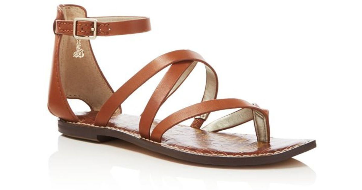Sam edelman gilroy ankle strap criss cross flat sandals in for Gilroy outlets jewelry stores