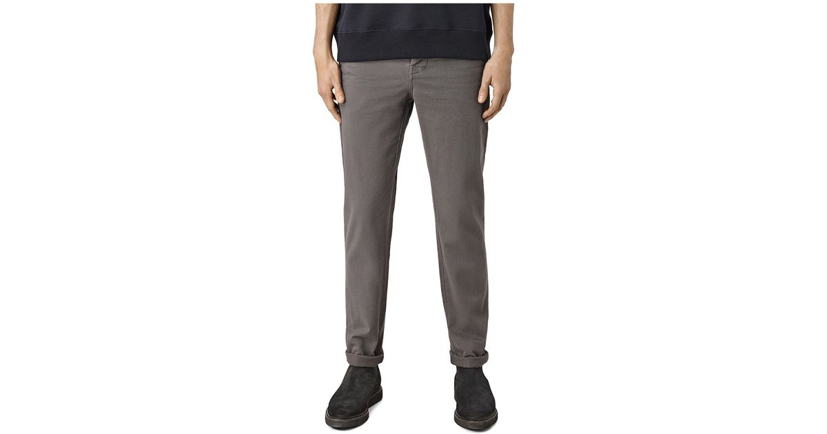 Model Express Skinny Gray Hayden Chino Pant In Gray For Men  Lyst