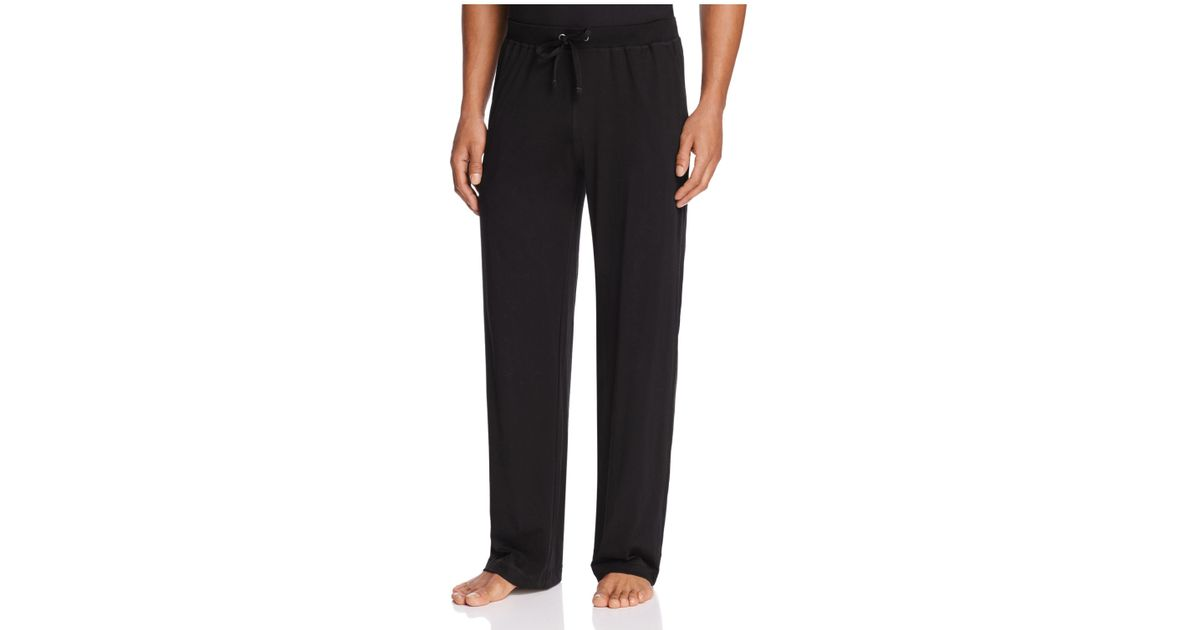 Daniel Buchler Peruvian Pima Cotton Lounge Pants In Black