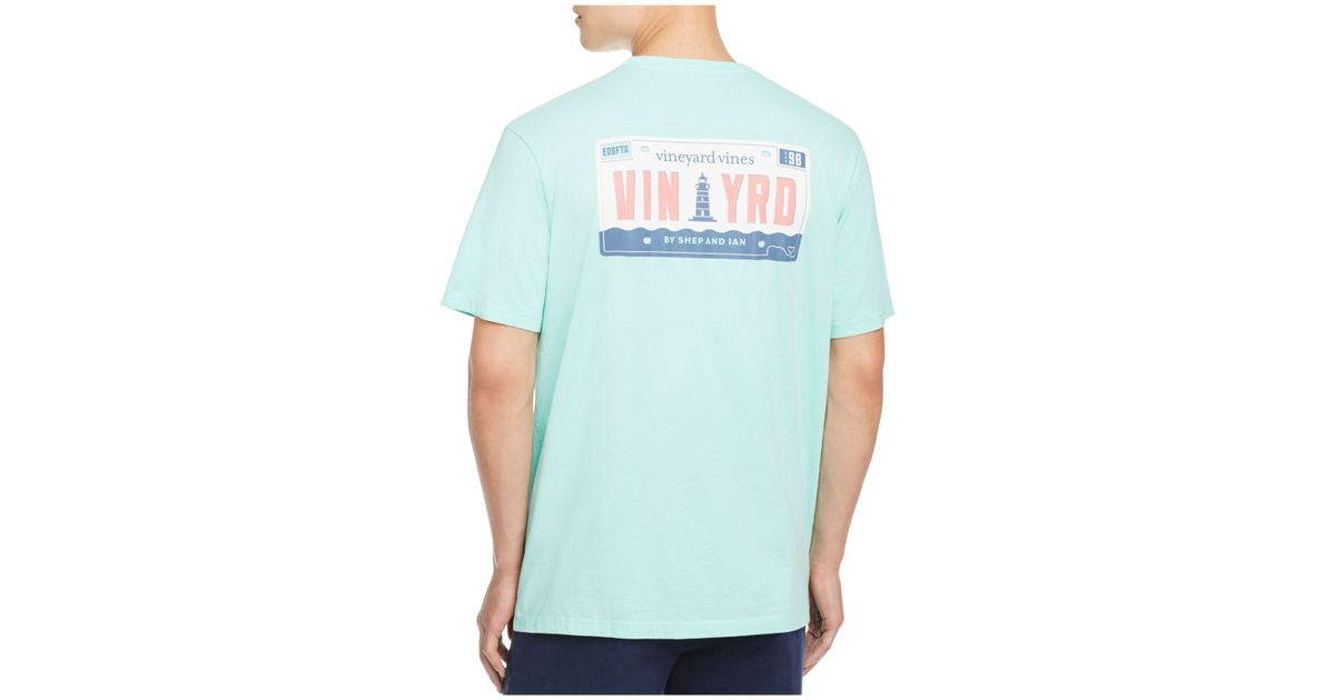 Vineyard Vines License Plate Pocket Tee In Blue For Men Lyst