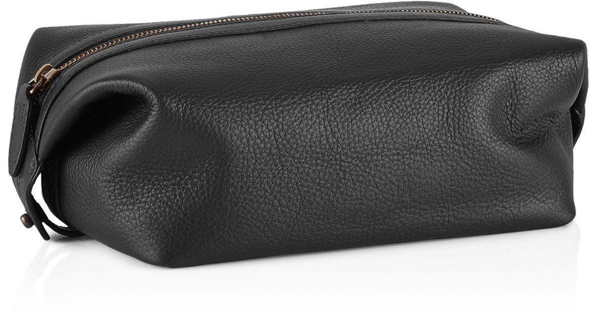 971ec9b96b7e Lyst - Polo Ralph Lauren Pebbled Leather Shaving Kit in Black for Men