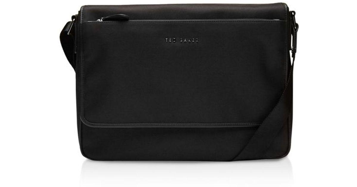 Lyst - Ted Baker Chizzel Nylon Messenger Bag in Black for Men 78d2696b199f7