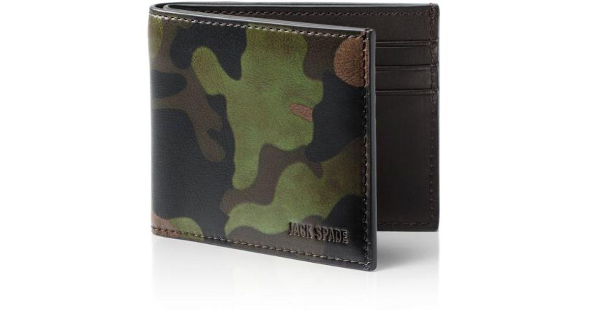 234dbcaa39f5b Lyst - Jack Spade Slim Billfold Wallet in Green for Men