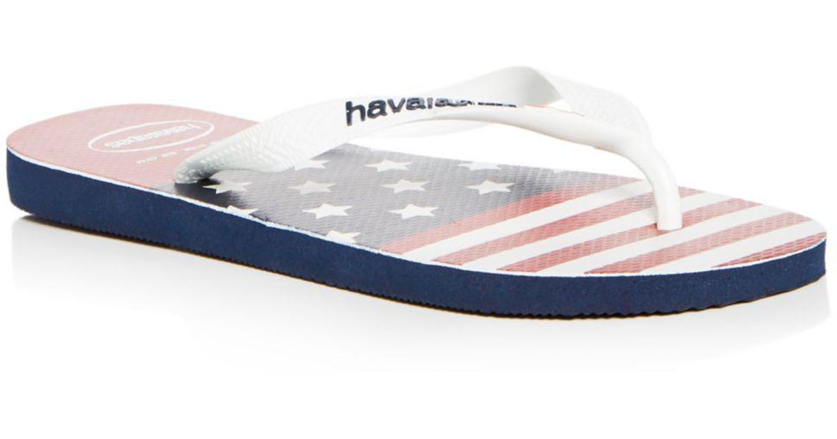 c0a1a18ed7dc Havaianas Men s Top Usa Stars   Stripes Flip-flops in Blue for Men - Lyst