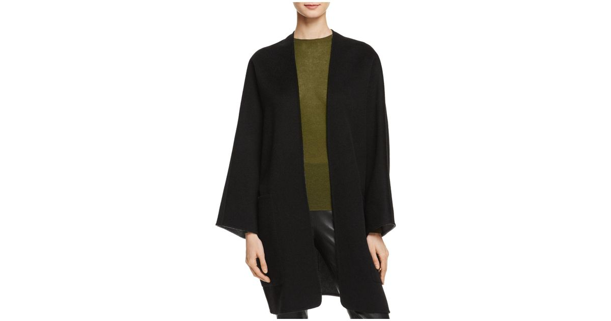 62ff6afbe9a24 Lyst - Vince Reversible Cardigan in Black