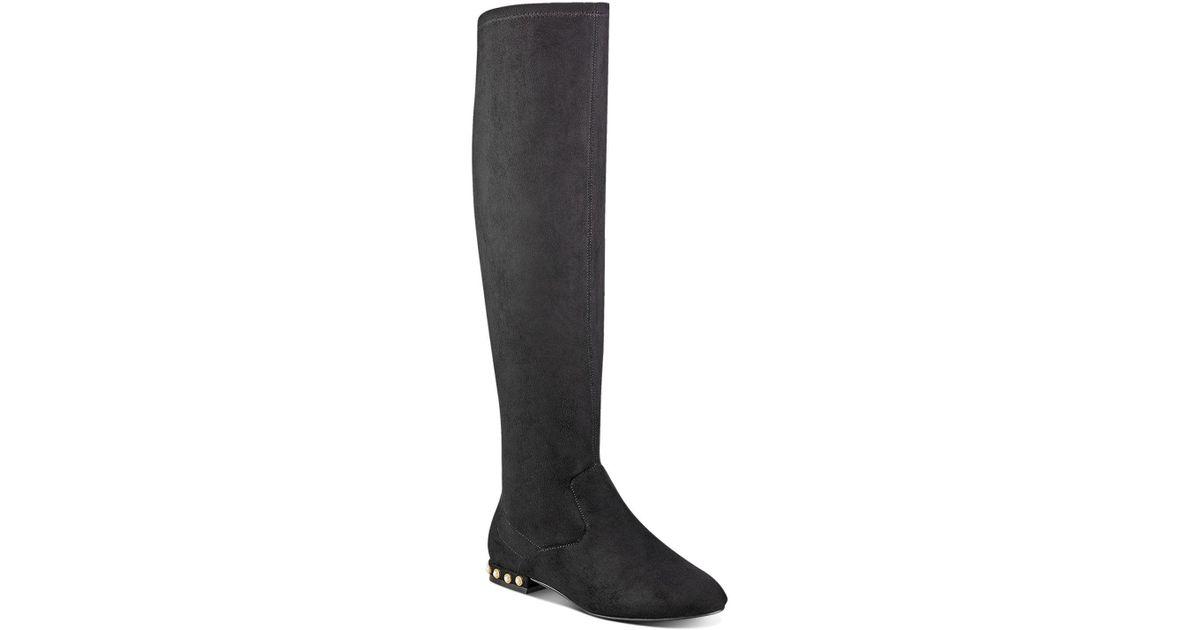 Ivanka Trump Freeda Embellished Faux Suede Tall Boots