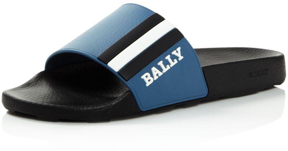 50c690c82 Lyst - Bally Men s Saxor Slide Sandals in Black for Men