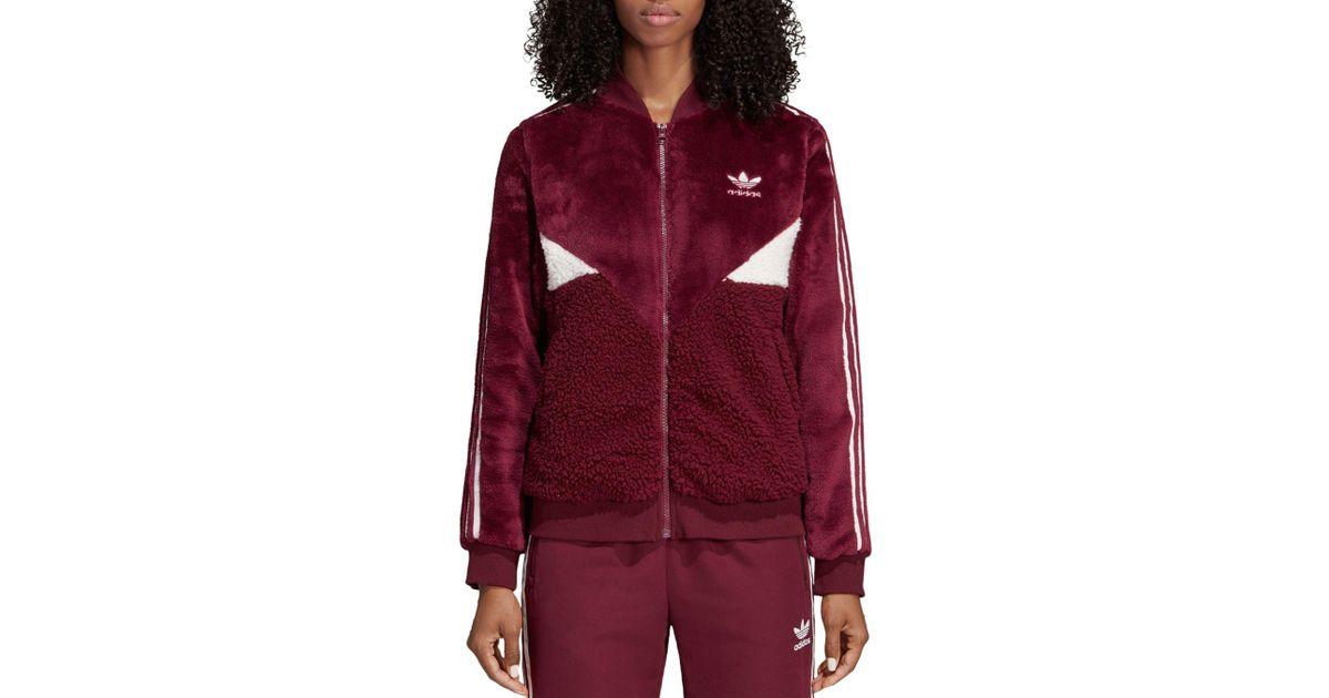 adidas fleece track jacket