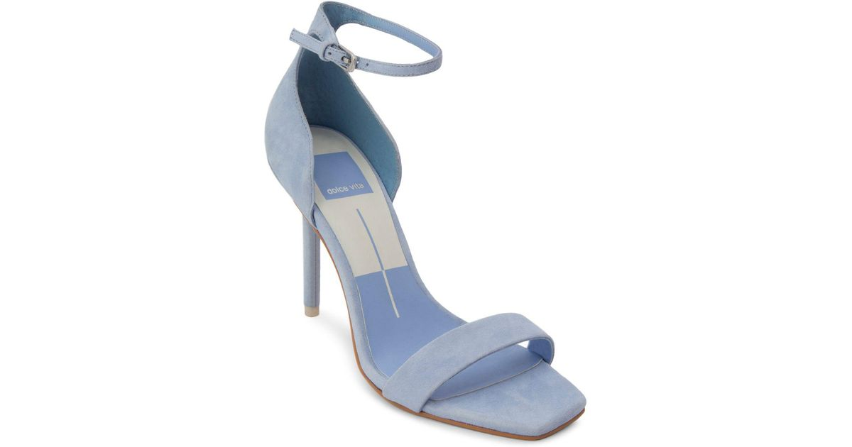 Dolce Vita Women's Halo Suede High-Heel Ankle Strap Sandals 45EP3