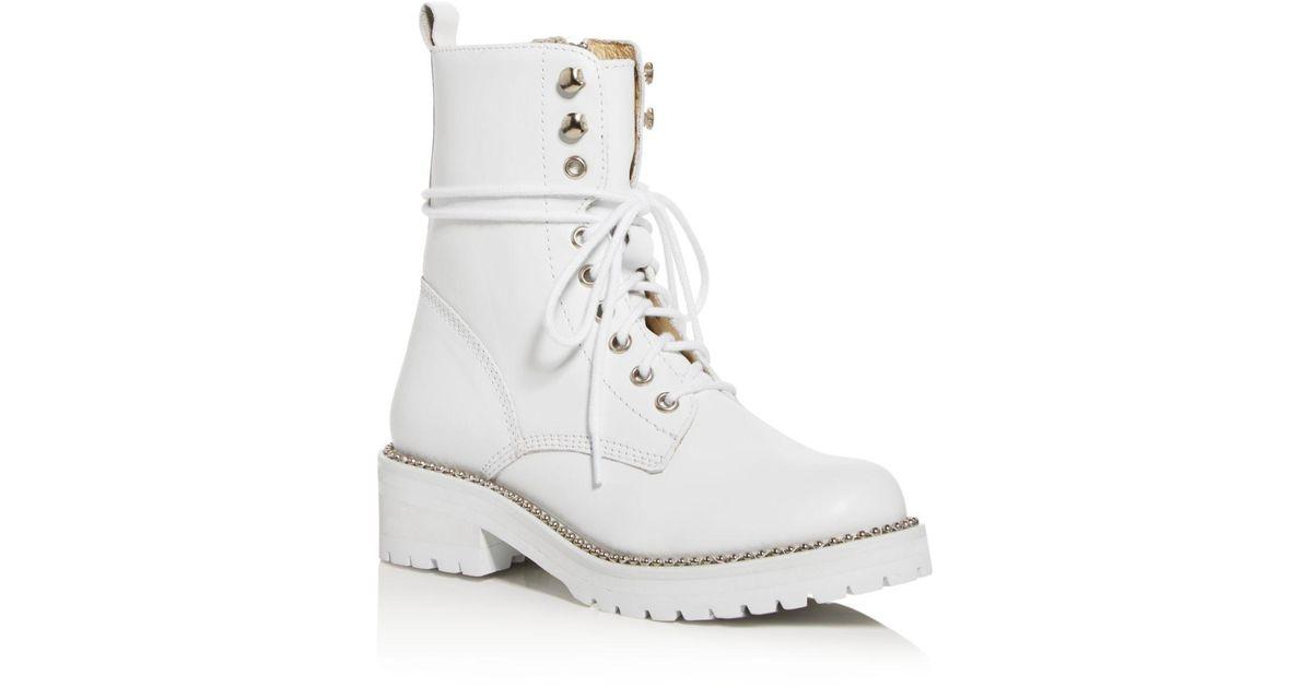 Aqua Leather Women's Jax Combat Boots