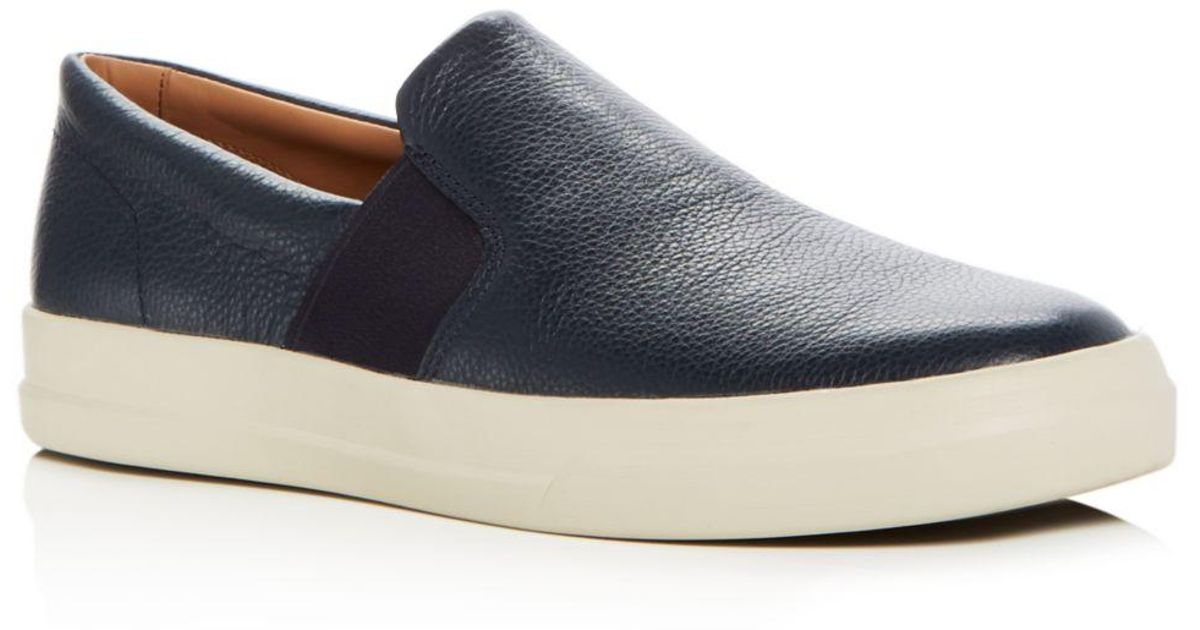 Caleb Leather Slip - On Sneakers