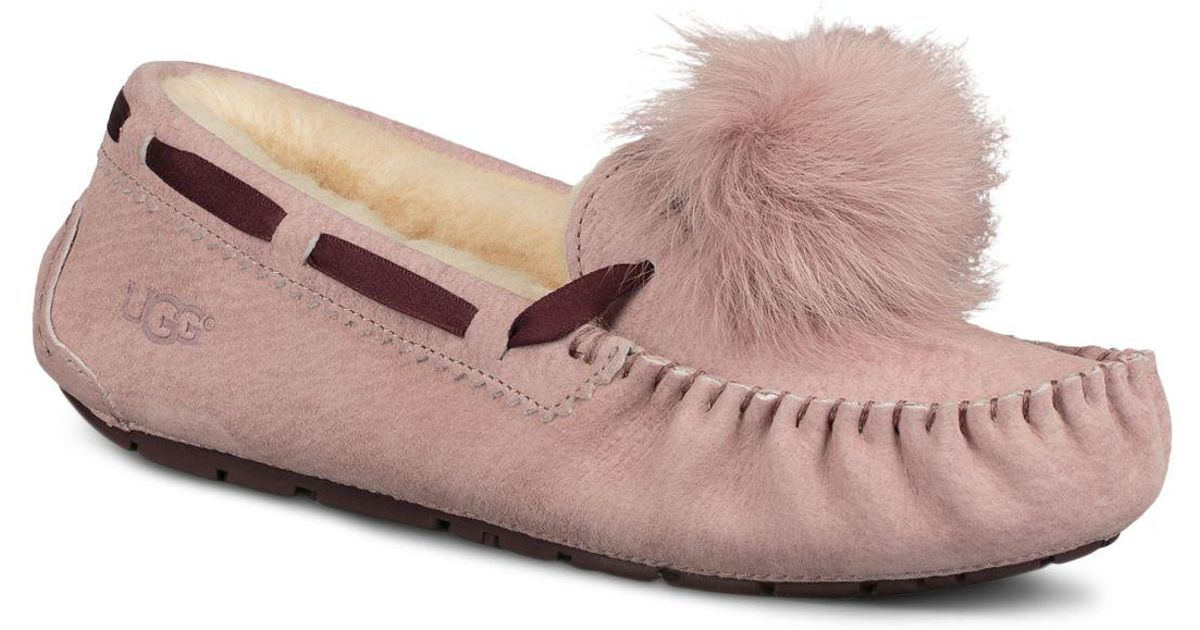 d550ef0690f Ugg - Pink Women's Dakota Sheepskin Pom-pom Slippers - Lyst
