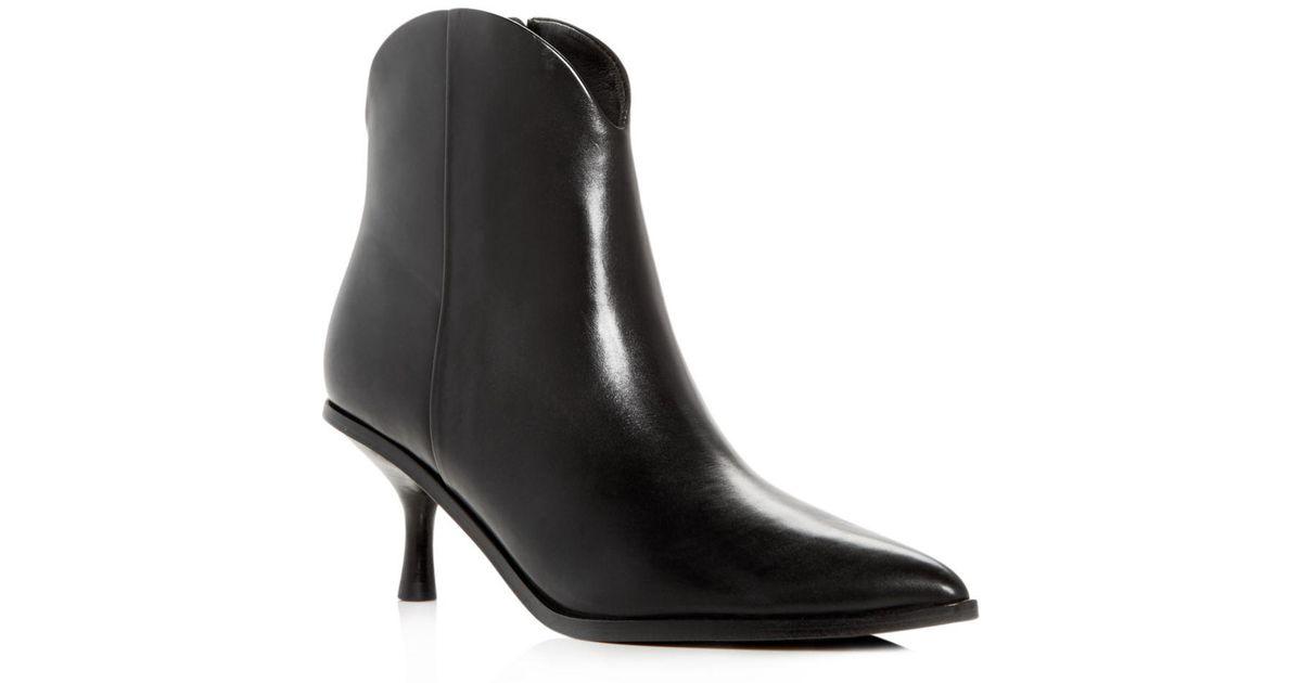 5600e455ba2 Sigerson Morrison Black Hayleigh Kitten Heel Ankle Boot