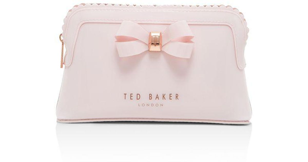 473455a56f4 Ted Baker Julis Bow Triangle Cosmetic Case - Lyst