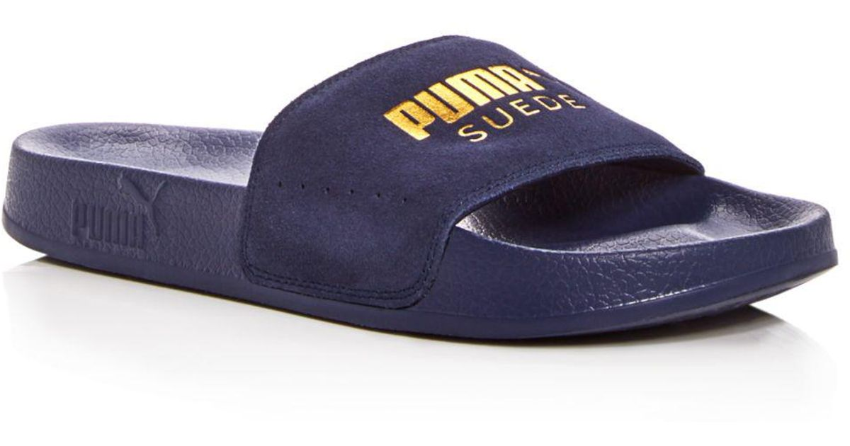 PUMA Fur Leadcat Slide Sandal in Purple - Save 3% - Lyst