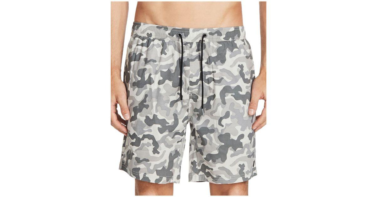 6e8e15a3ad Lyst - Zanerobe Laguna Camouflage Swim Trunks in Gray for Men
