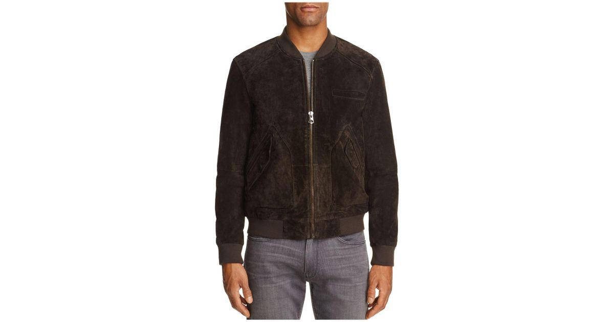Lyst - Blank nyc Suede Baseball Jacket in Brown for Men