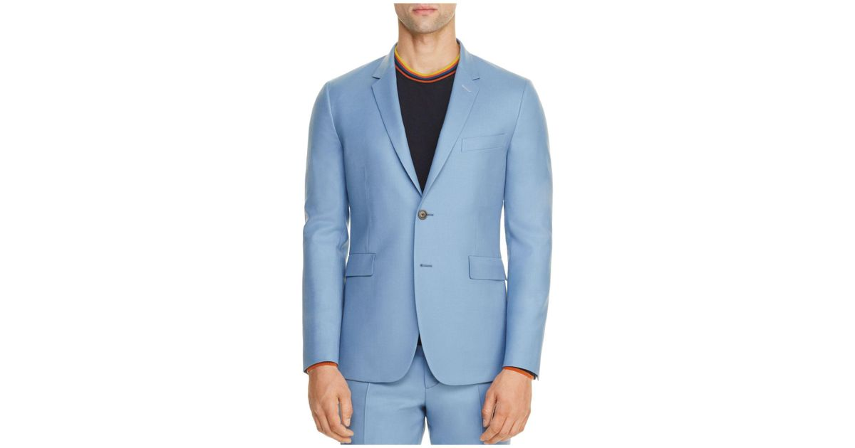 80891509601f0f Paul Smith Light Blue Soho Slim Fit Travel Suit Separate Sport Coat in Blue  for Men - Lyst