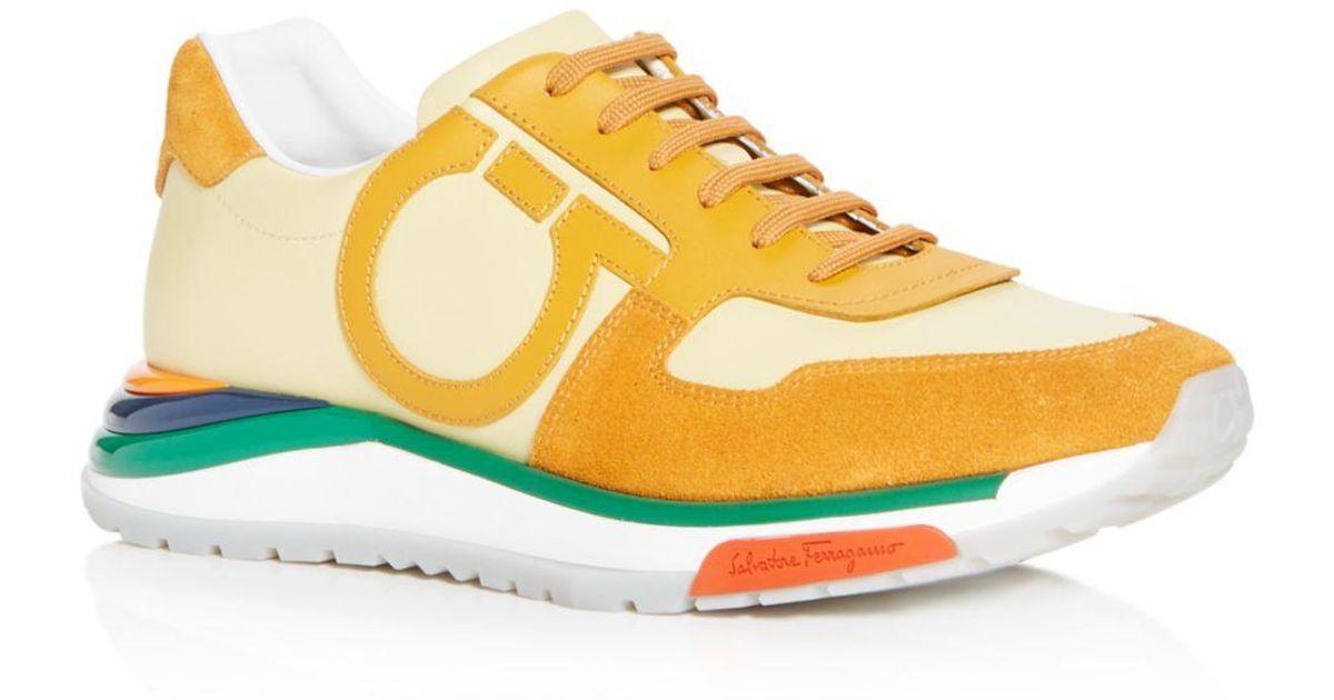 e25871bbf4b Lyst - Ferragamo Men s Brooklyn Leather Low-top Sneakers for Men