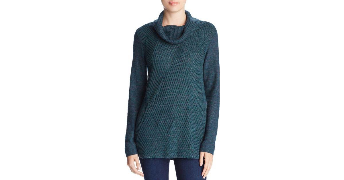 Lyst Niczoe Niczoe North Star Cowl Neck Sweater In Green