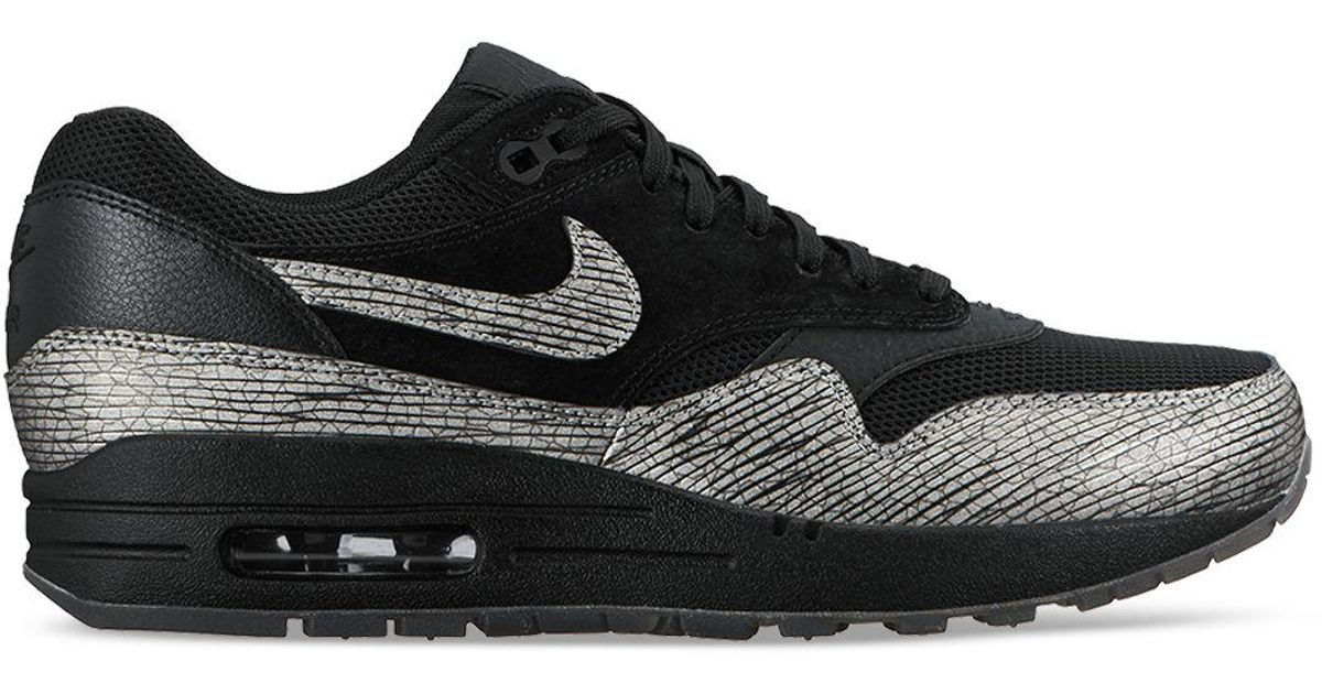 quality design 849bc c13bd ... usa lyst nike womens air max 1 premium lace up sneakers in black 3a201  8c752