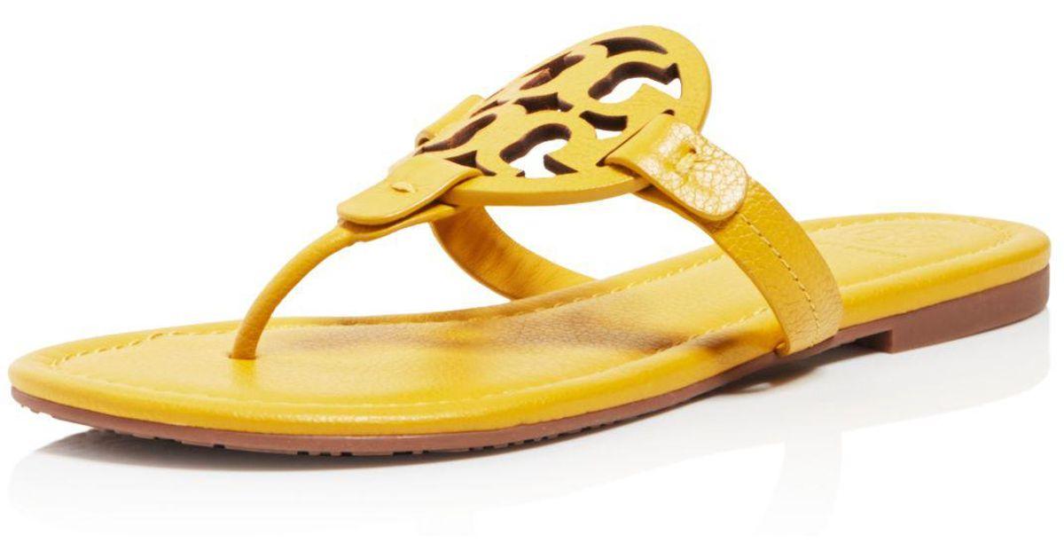 9ba7198a2de5 Lyst - Tory Burch Women s Miller Leather Thong Sandals in Yellow