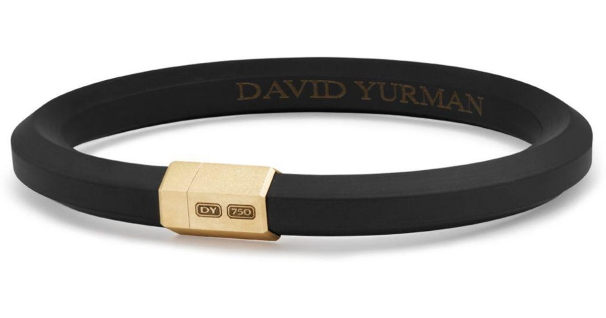 Lyst David Yurman Men S Hex Bracelet In Black With 18k Gold For