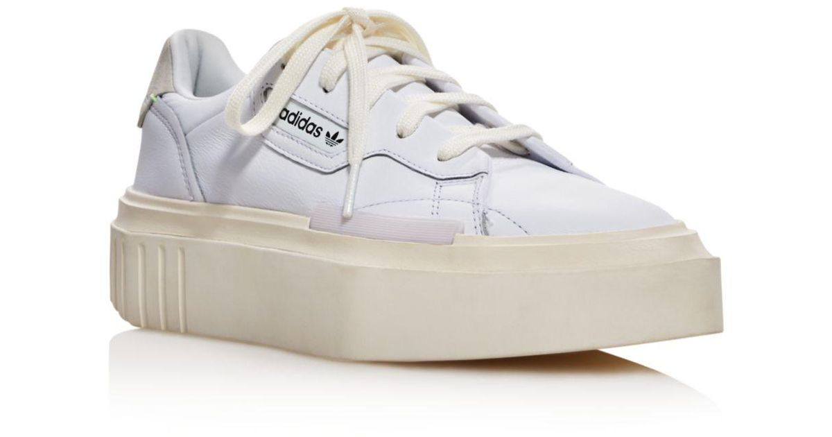 outlet store 1cd8e 61dfa Lyst - adidas Hypersleek Leather Platform Sneakers in White
