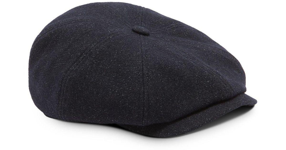 Lyst - Ted Baker Gladstn Semi Plain Baker Boy Cap in Blue for Men 8be1775e842
