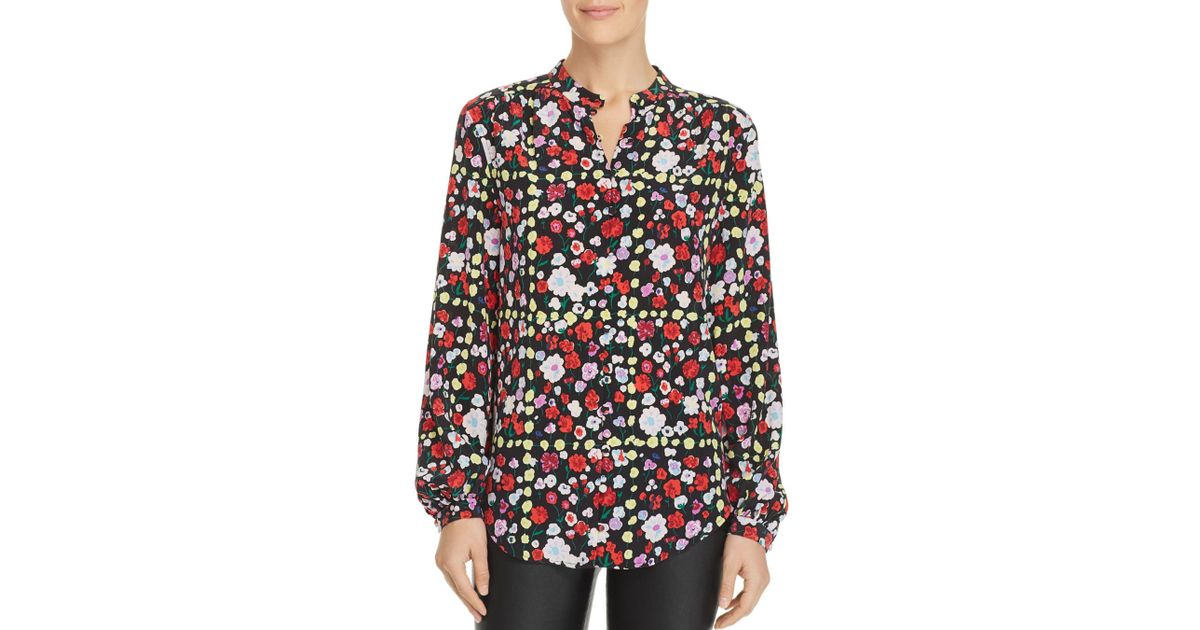 c2d9dad8a482ba Equipment Floral Crêpe Shirt in Black - Save 48% - Lyst