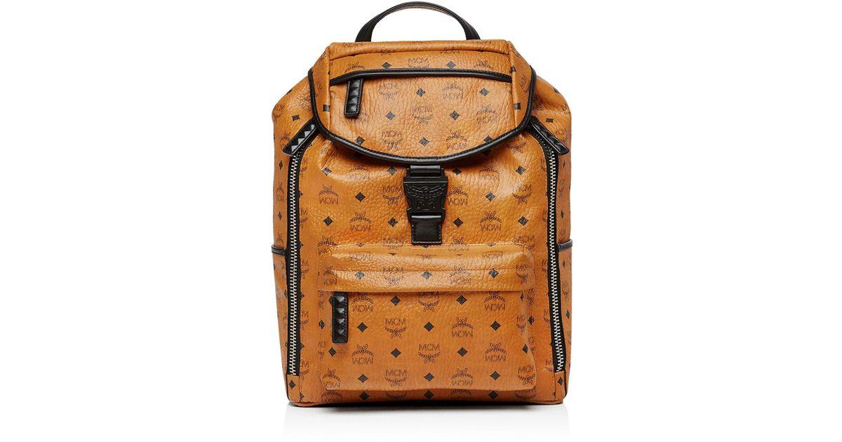 44dba148ad63 MCM Killian Visetos Backpack in Brown - Lyst