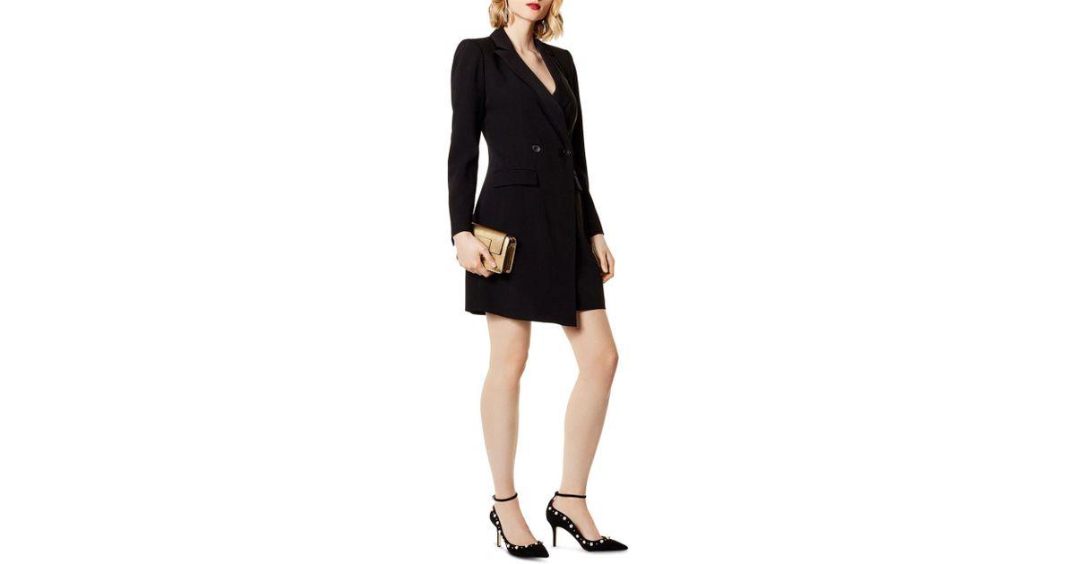 0ac9c51748 Karen Millen Double-breasted Blazer Dress in Black - Lyst