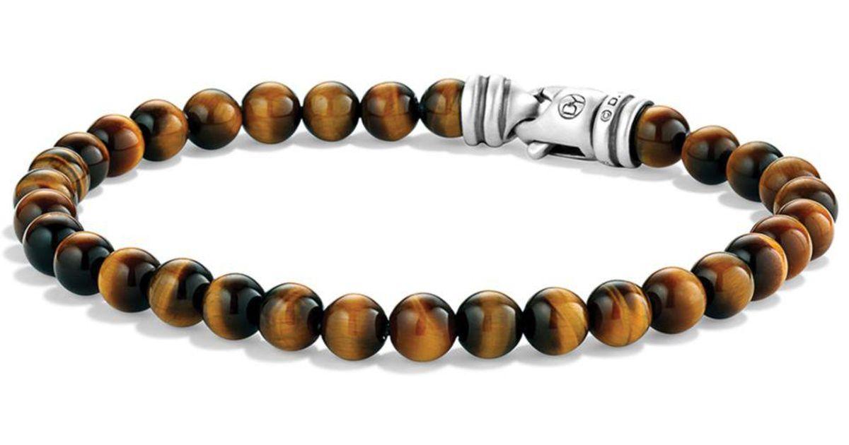 3a8082e4e42b1 David Yurman Brown 'spiritual Beads' Bracelet for men