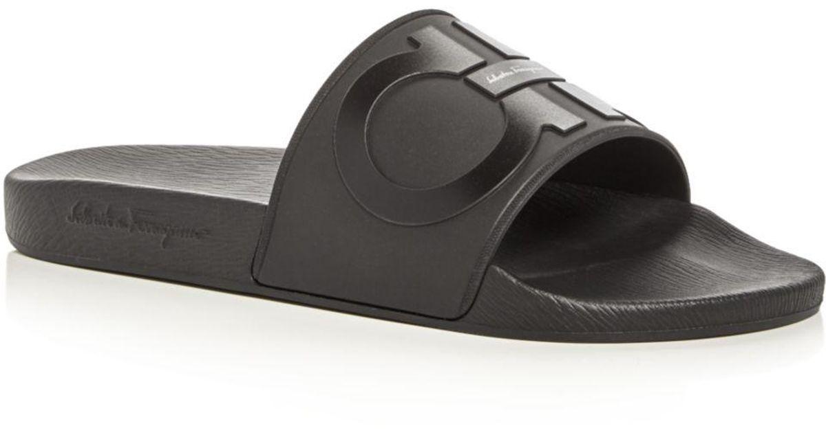 Ferragamo Men's Groove 2 Slide Sandals