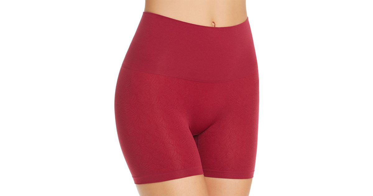 4725f09572 Lyst - Yummie Ultralight Seamless Shorts in Red