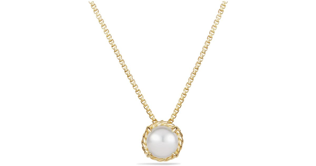 David Yurman 18kt yellow gold Châtelaine turquoise and diamond pendant necklace - Metallic feMfbXvVyG