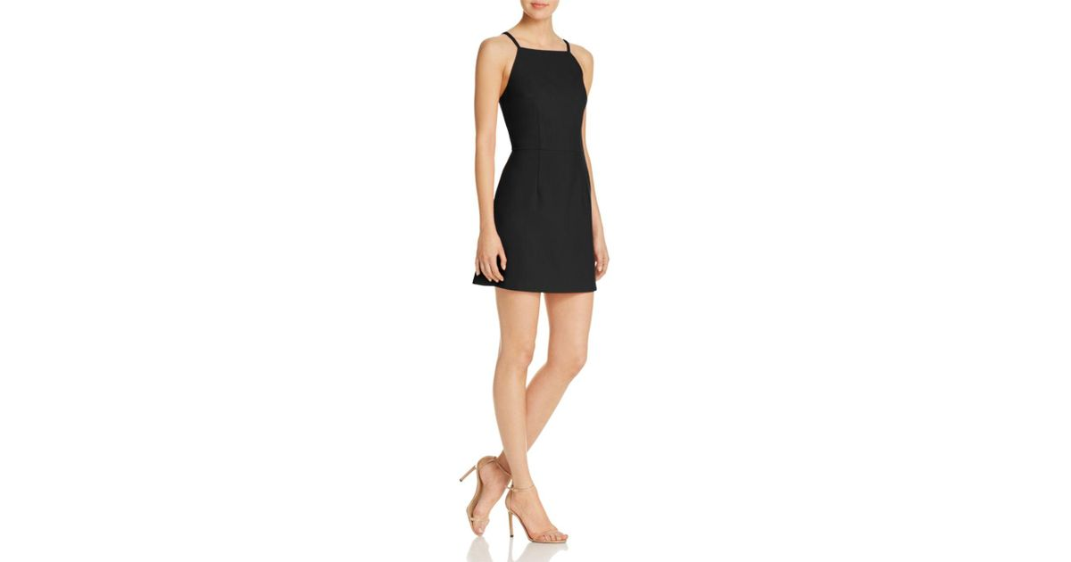 Lyst French Connection A Line Mini Dress In Black