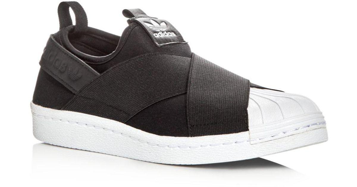 adidas Women's Superstar Slip - On Sneakers in Black - Lyst
