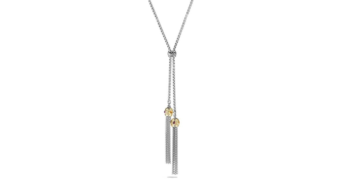 david yurman renaissance tassel necklace with 14k yellow