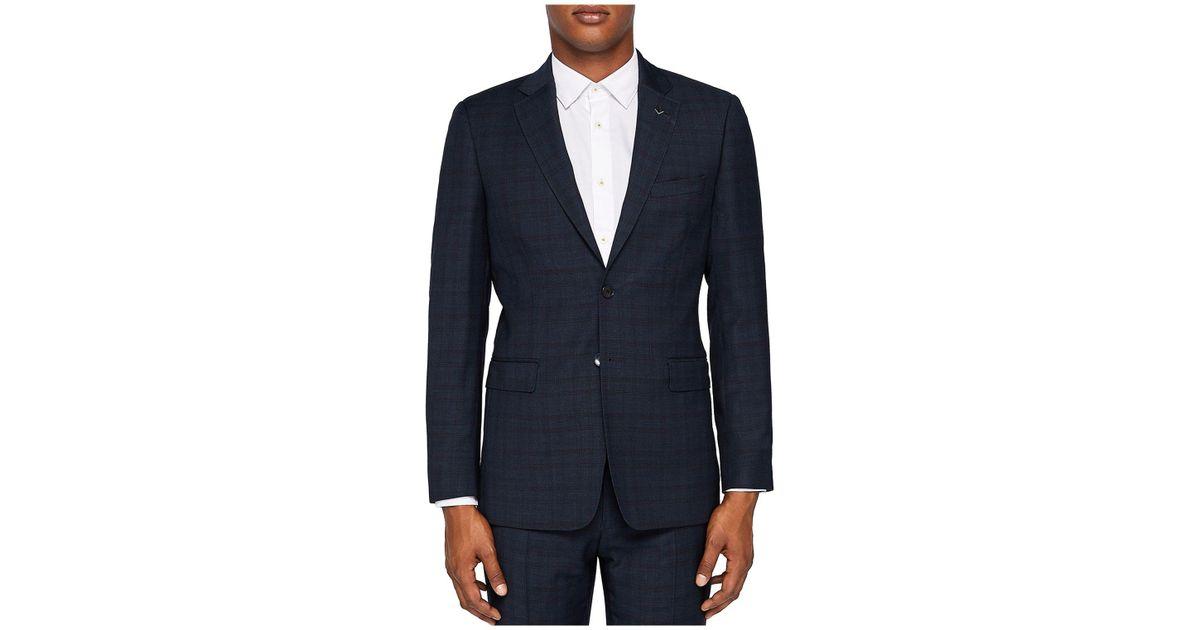 6a8d7394a Lyst - Ted Baker Concorj Debonair Check Regular Fit Sport Coat in Blue for  Men