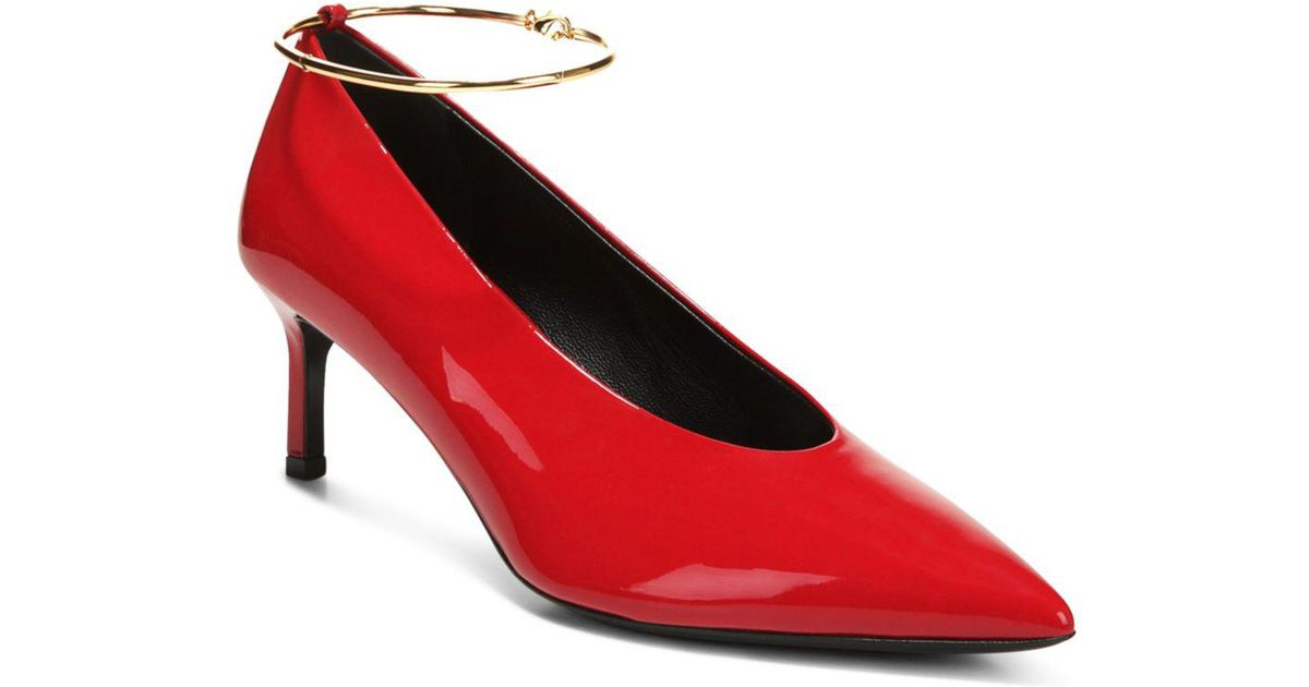efaeaa609b4 Via Spiga - Red Women's Bailey Pointed Toe Patent Leather Mid-heel Pumps -  Lyst