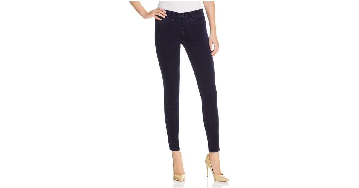 73374bbe31b1 Lyst - J Brand Skinny Velvet Jeans In Blue Iris in Blue