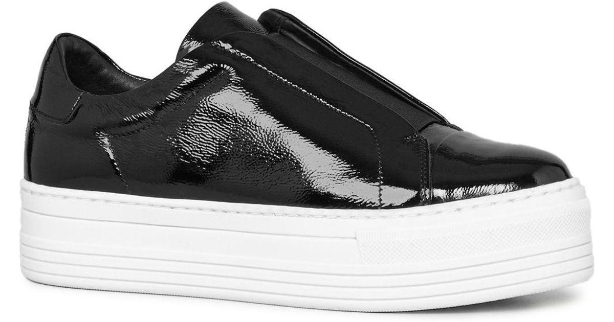 Aya Patent Leather Platform Slip